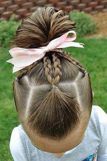 простые прически на длинных волосах детям