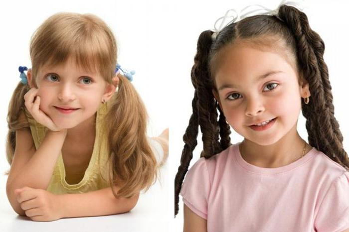 легкие прически на длинные волосы детям