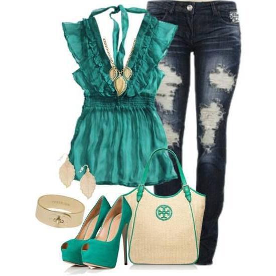 с чем носить зеленую обувь