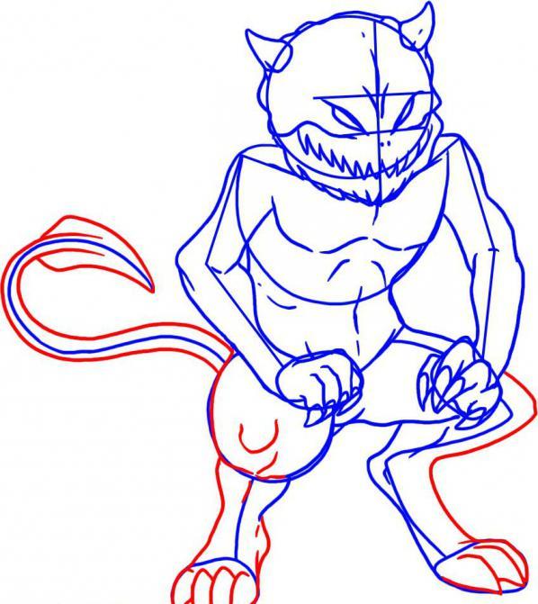 Как нарисовать демона карандашом поэтапно