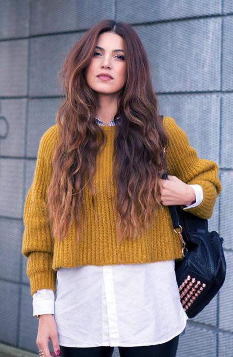 с чем носить желтый свитер
