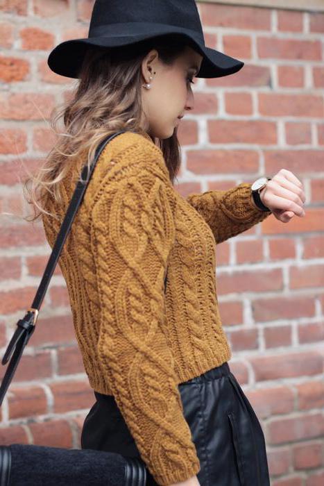 свитер желтый женский