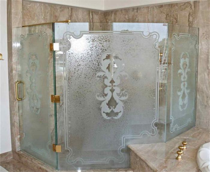 Стеклянные двери в парилку