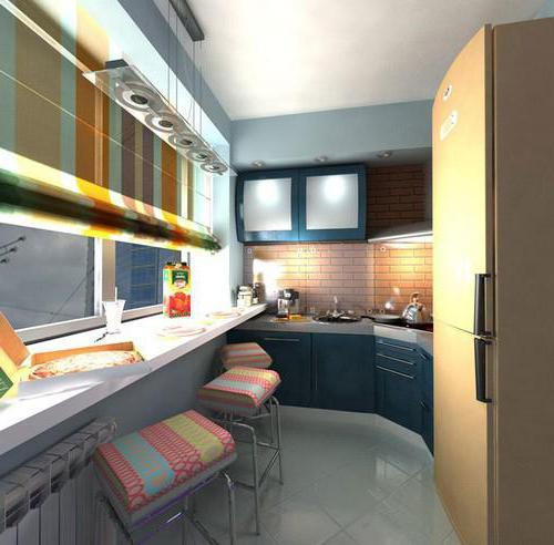 лоджия совмещенная с кухней