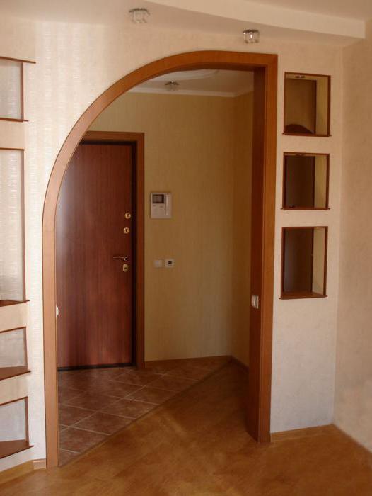 Отделка проемов между комнатами без двери