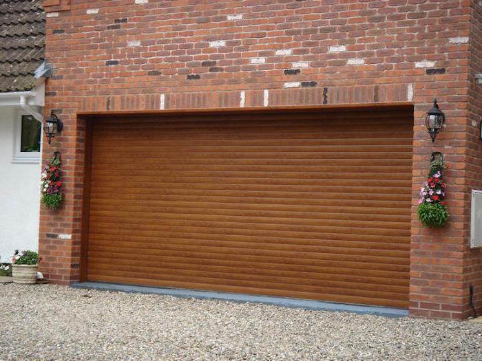 ворота рольставни на гараж размеры