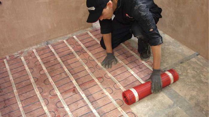 Heated flooring under tile