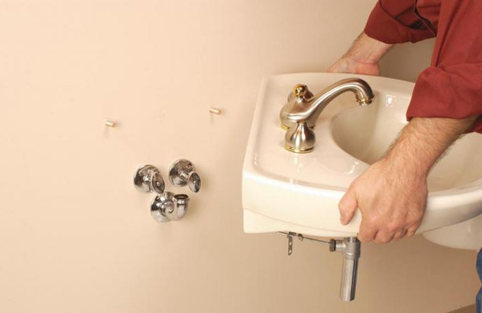 монтаж раковины в ванной