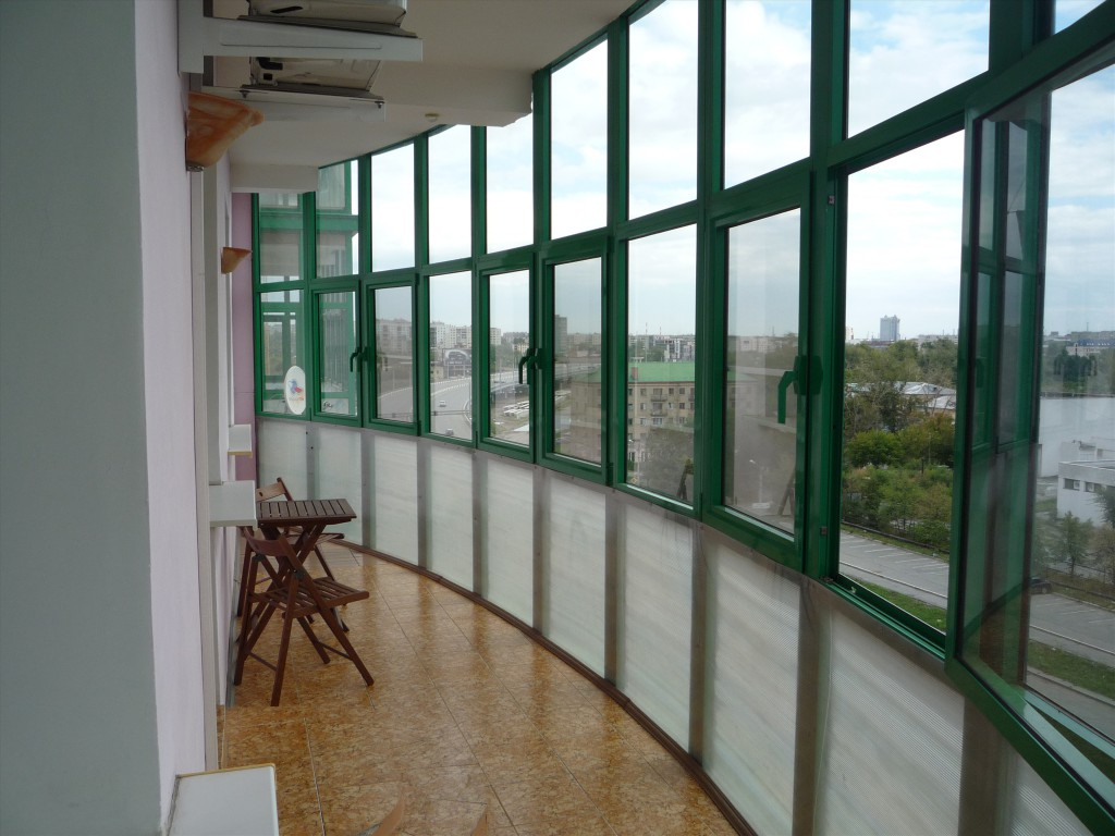 how to insulate a large glass loggia