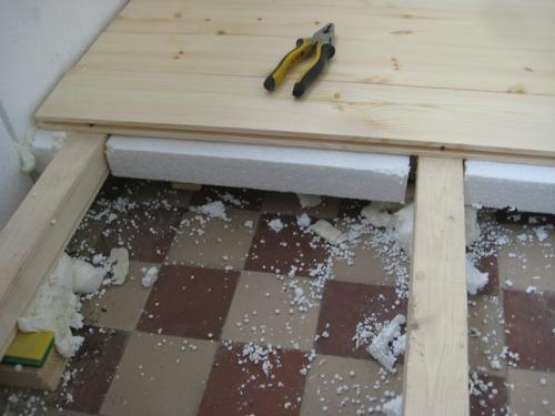 loggia floor insulation