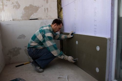 loggia wall insulation