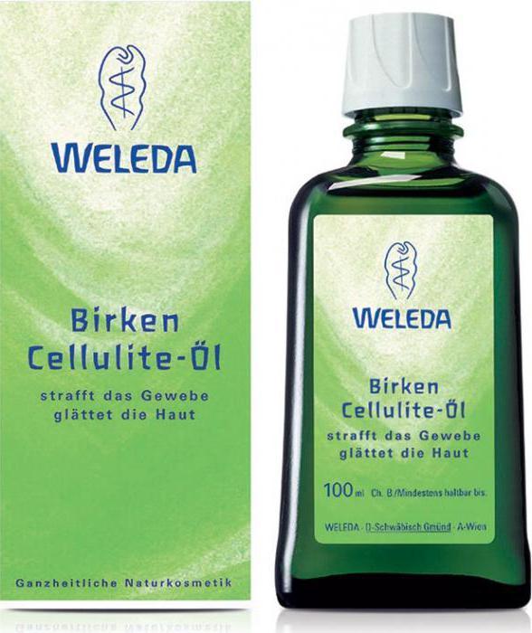 Березовое антицеллюлитное масло Weleda: отзывы