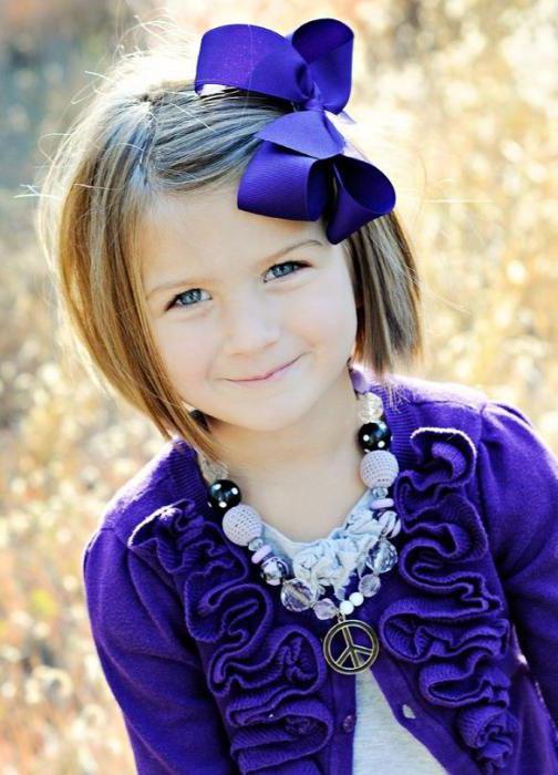 прически для маленьких девочек на короткие волосы