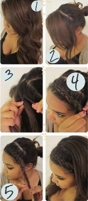 Как сделать себе косичку