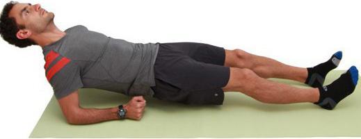 обратная планка упражнение фото