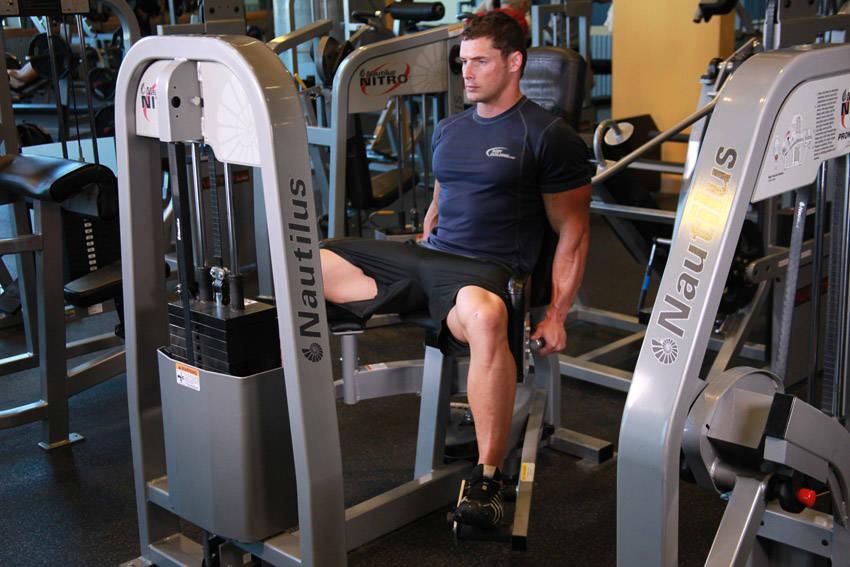 Разведение ног в тренажере сидя: какие мышцы работают, техника выполнения упражнения