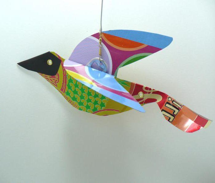 конструирование из бумаги в подготовительной группе птицы