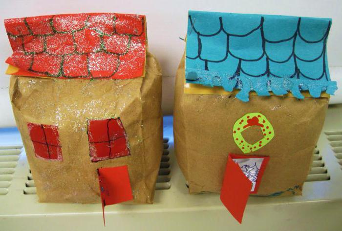 конструирование из бумаги в подготовительной группе дом