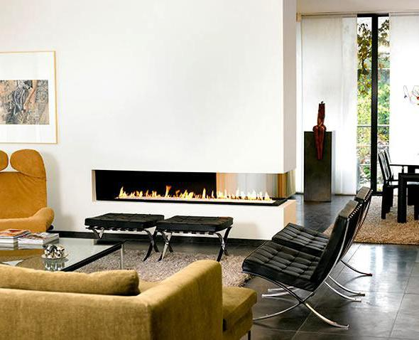 дизайн интерьера гостиной с камином в современном стиле фото