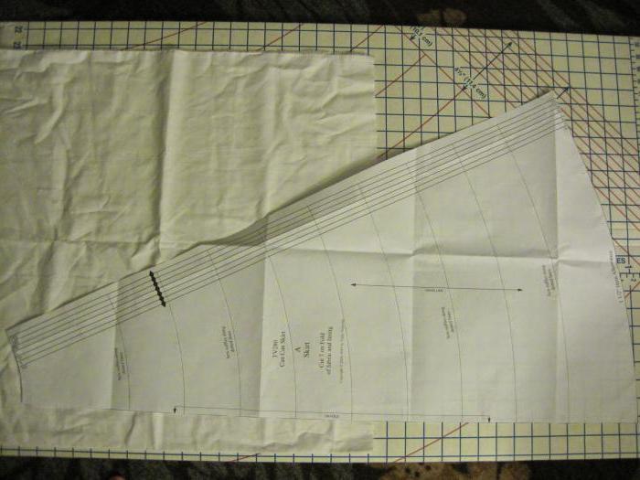 проект юбка клиньевая