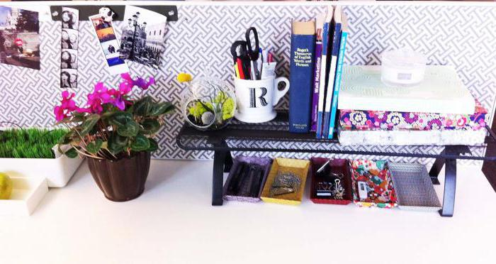как можно украсить рабочий стол