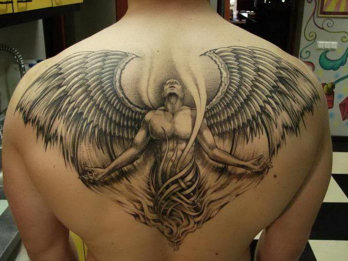 Фото тату ангела
