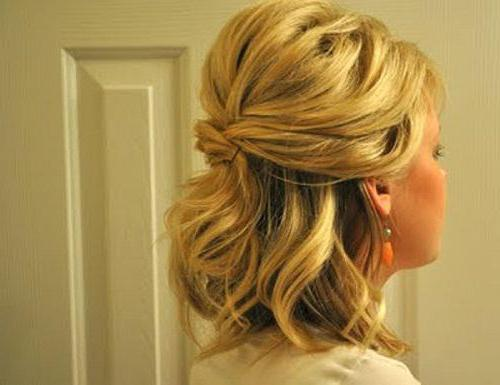 элегантная прическа на средние волосы