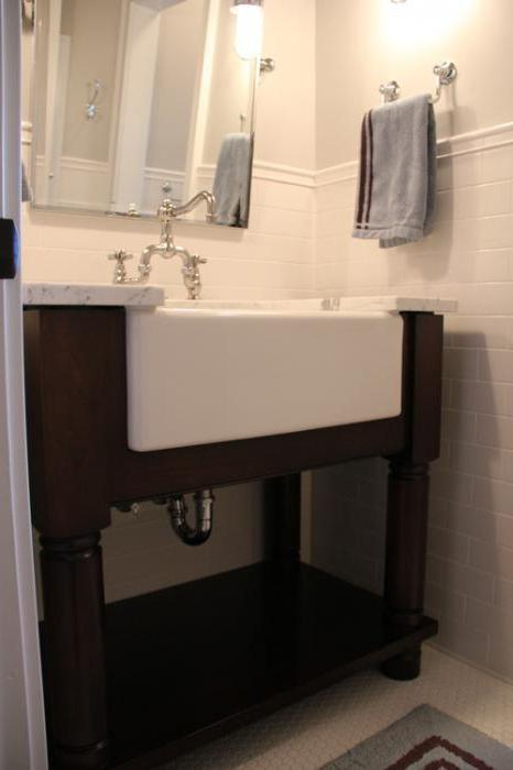 На какую высоту устанавливают раковину в ванной