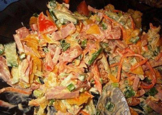"Салат ""Обжорка"" классический рецепт с курицей"
