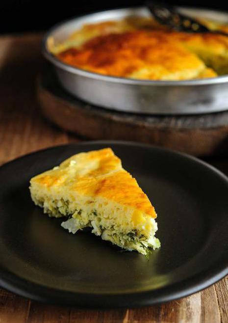 Простой рецепт пирога с капустой из жидкого теста