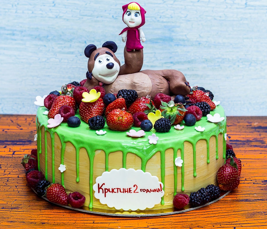Cake & quot; Masha and the Bear & quot;