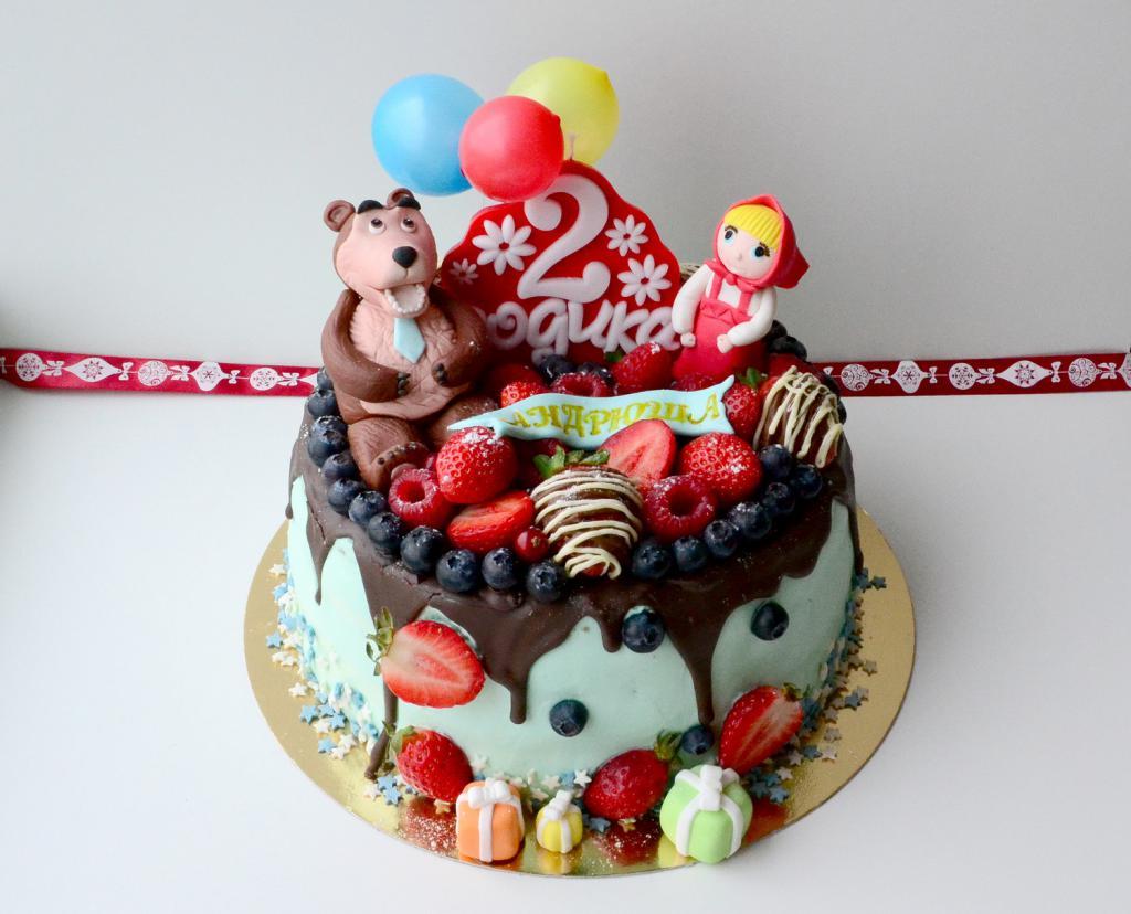 Cake Recipe & quot; Masha and the Bear & quot;