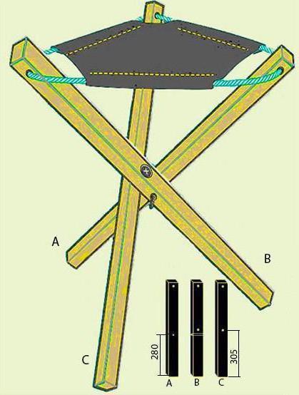 раскладной стул для рыбалки своими руками чертежи