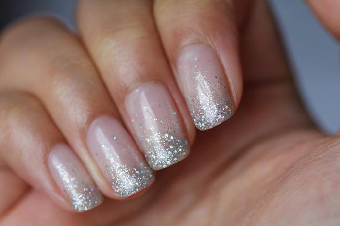 Гель лак на ногтях с блестками