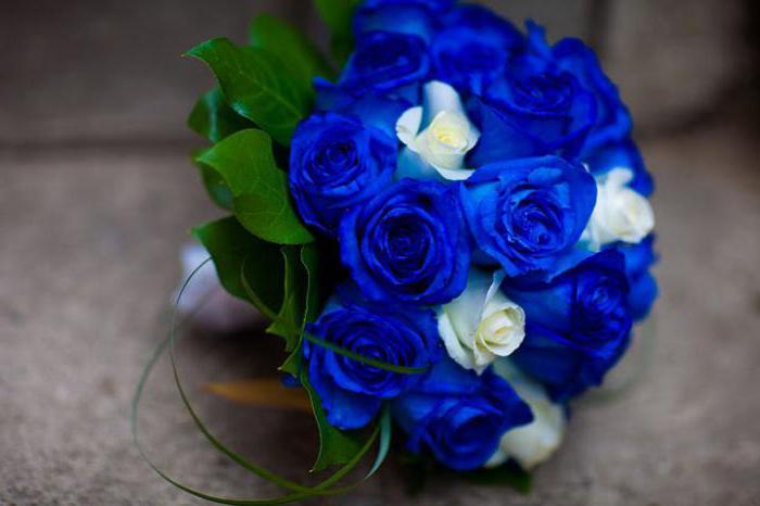 Синий свадебный букет: как выбрать, что означает