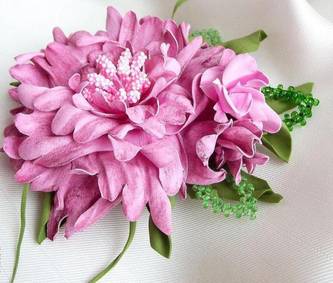 картины из цветов из фоамирана своими руками