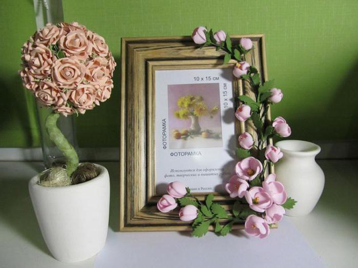 картины с цветами из фоамирана