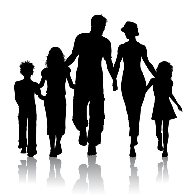 Картинка семьи трафарет