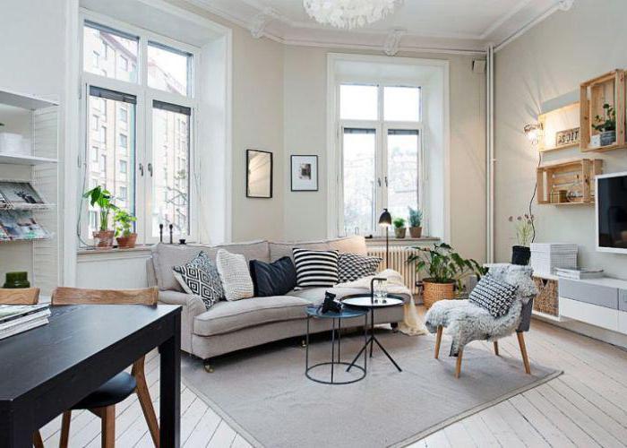 Скандинавский стиль в малогабаритной квартире