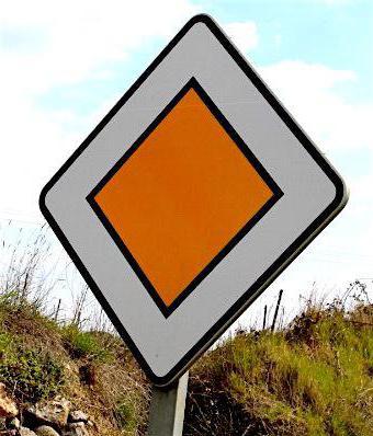 перекресток с знаком главная дорога на право