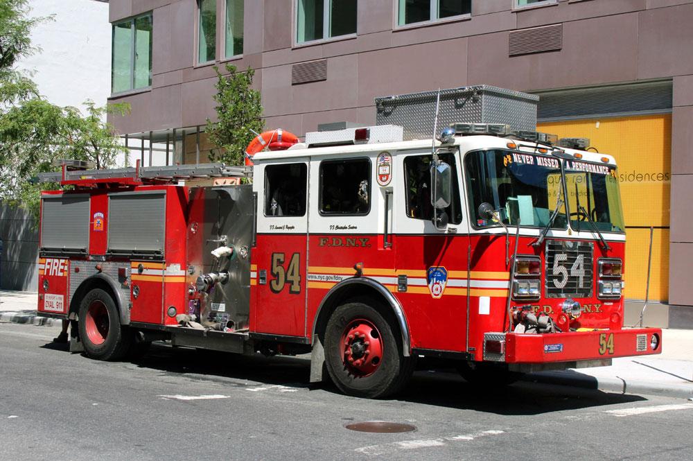 американская пожарная машина
