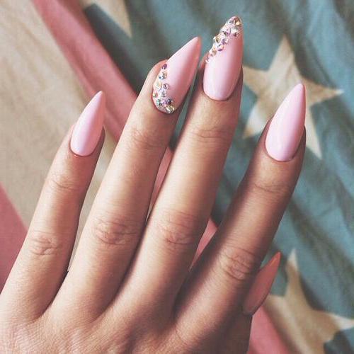 как сделать форму ногтей стилет