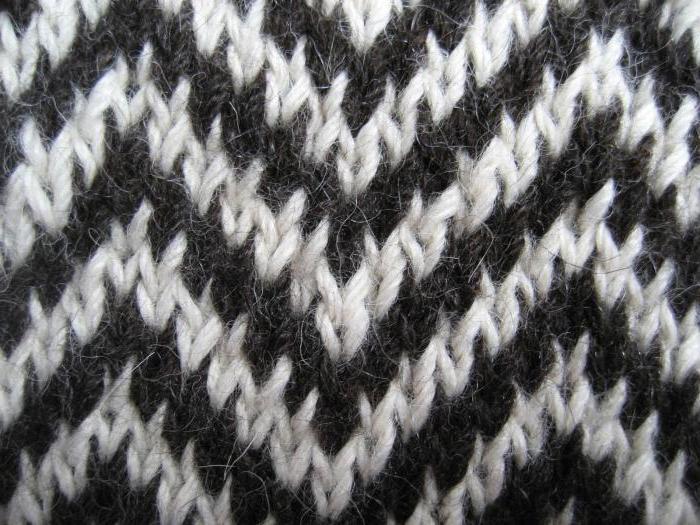 двухцветное вязание спицами