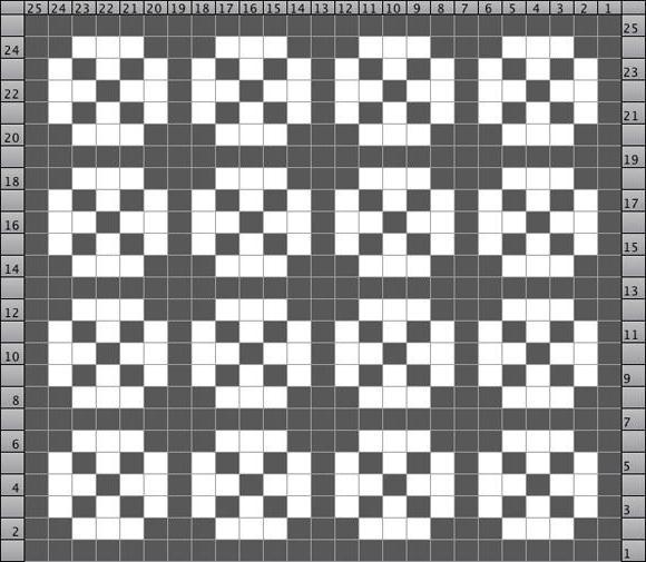 двухцветные ажурные узоры спицами схемы с описанием