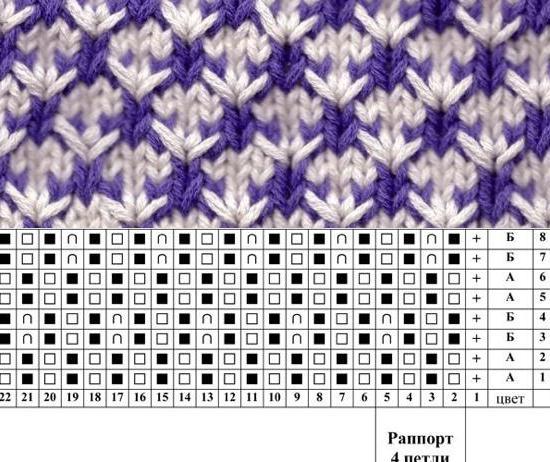 вязание двухцветные узоры