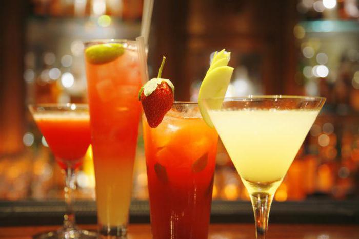 название коктейлей алкогольных список