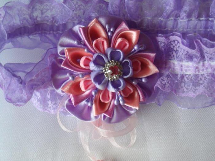 Цветы канзаши Алина Болобан