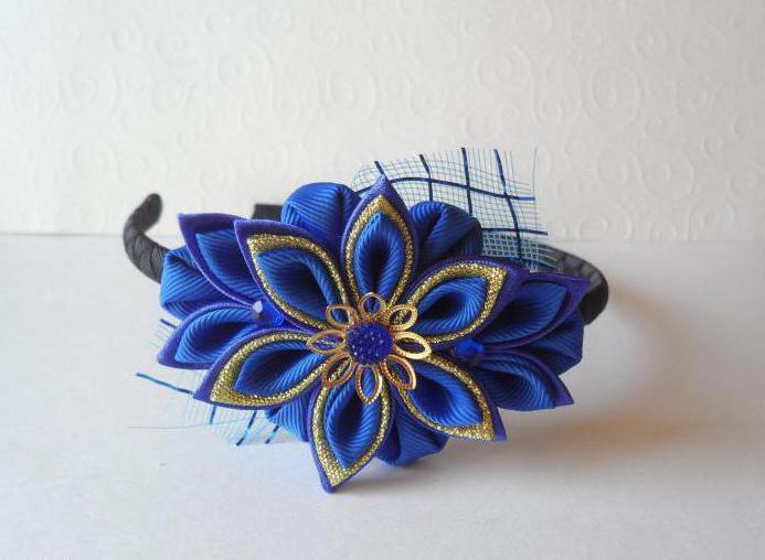 Цветы из лент Алины Болобан