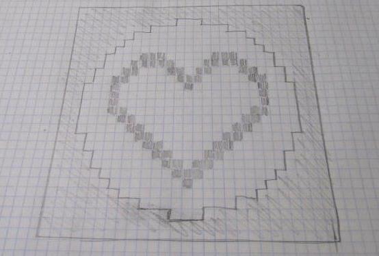 узор сердечки спицами схема и описание
