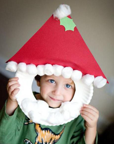 Маска Деда Мороза. Творим с детьми